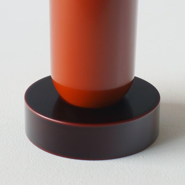 Plastic Mirto Flower Vase Ettore Sottsass Japanese Urushi Lacquer Model For Sale