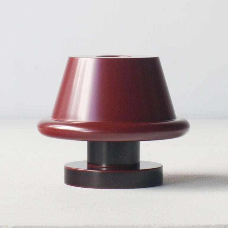 Senape Flower Vase Ettore Sottsass Japanese Urushi Laquer Model A In New Condition For Sale In Shibuya-ku, Tokyo