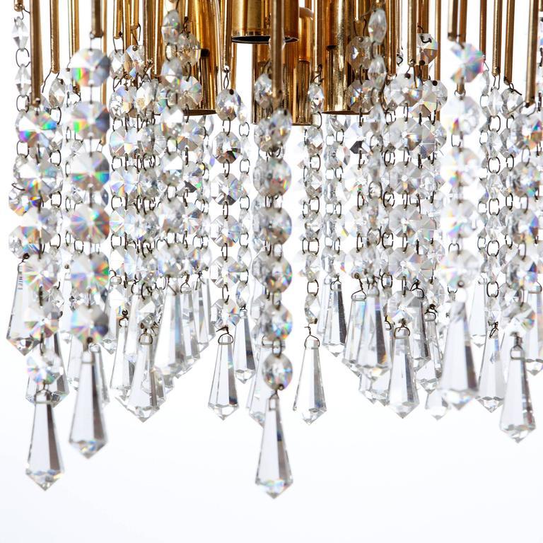 Italian Attributed to Gaetano Sciolari 1960s Chandelier Light For Sale