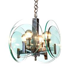 1960's four light Pendant Attributed to Veca