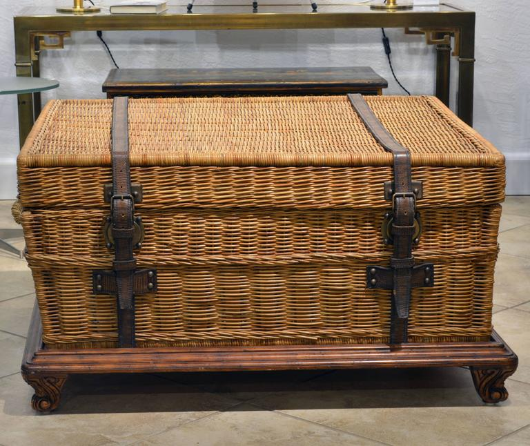 Wicker Trunk Coffee Table For The Worldly Ambiance Of Colonial Times Comes Through In This Great Design By Ralph Lauren
