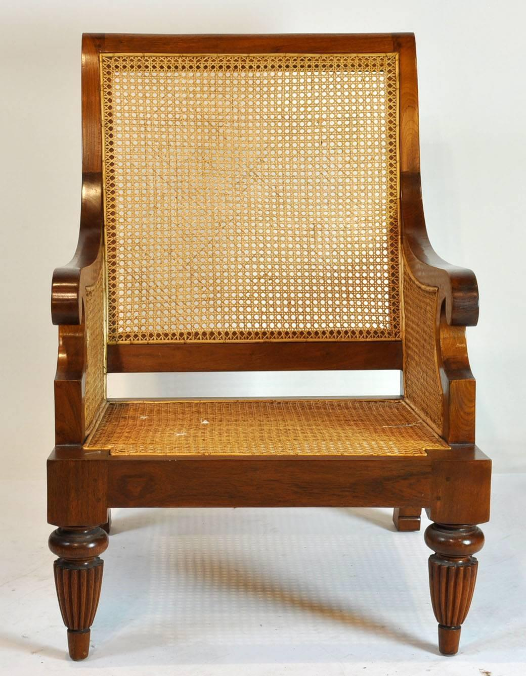 British Colonial Imports Caned Leather Plantation Style