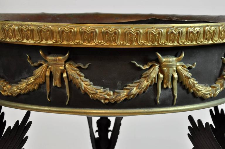 Large French 19th Century Bronze Empire Taza For Sale 6