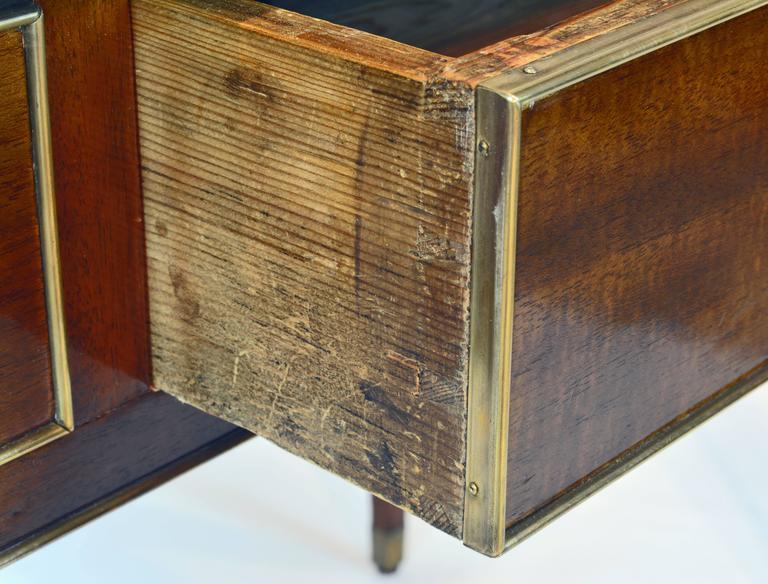 19th Century French Directoire Three-Drawer Figured Mahogany Writing Desk 7