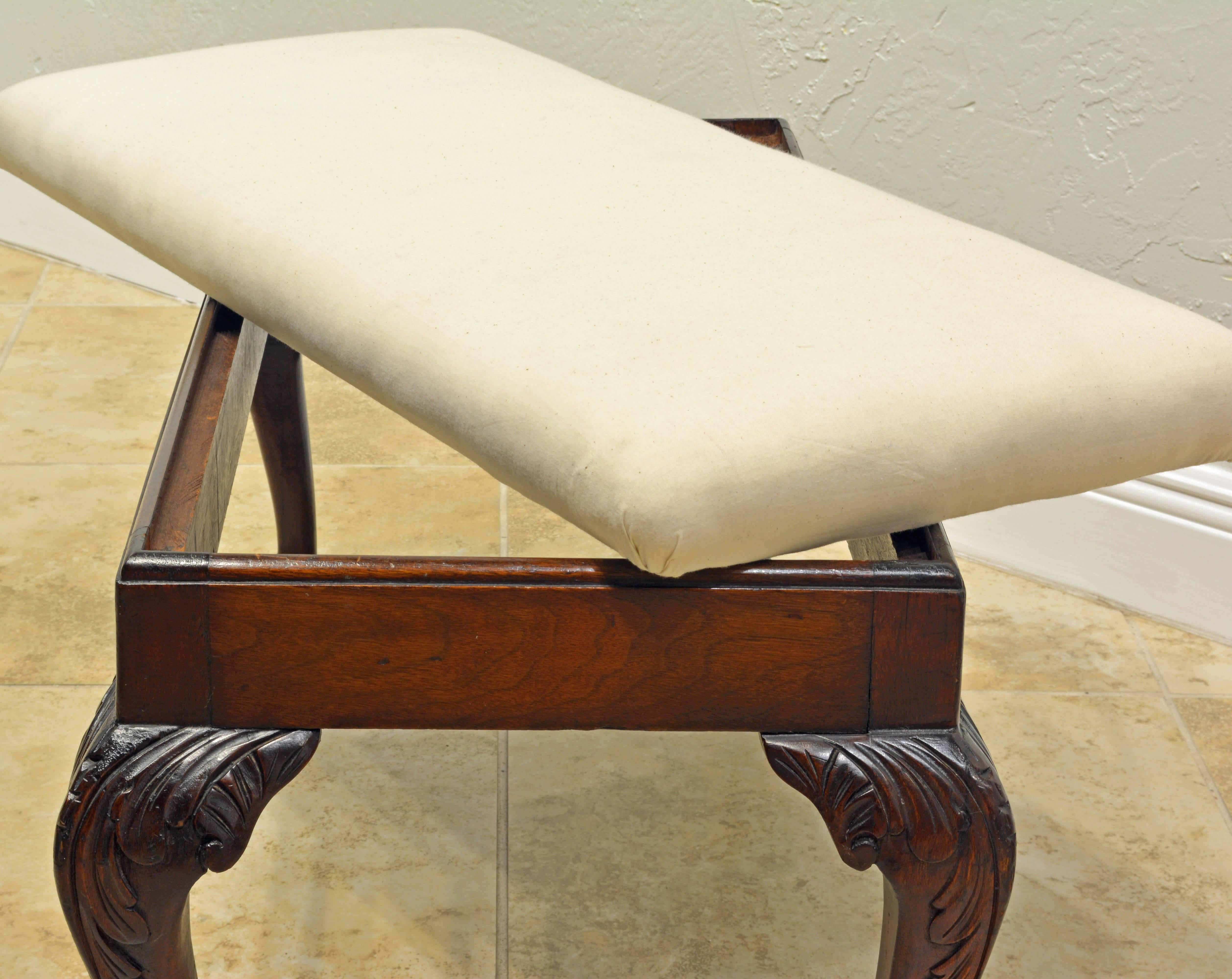 print leopard wrought vintage iron bench vanity chairish product