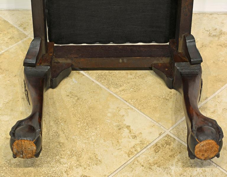Attractive 19th Century Chippendale Style Mahogany Bench with Claw and Ball Feet 10