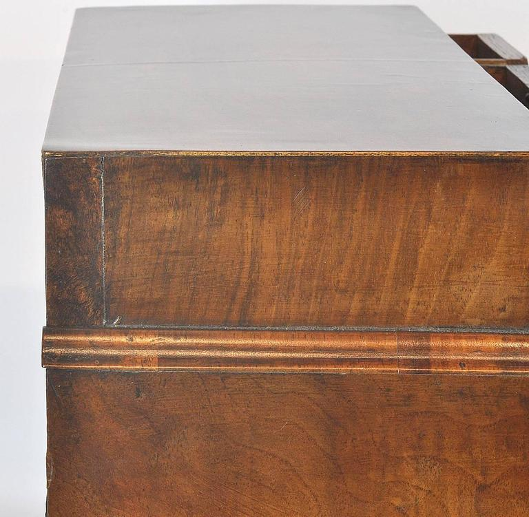 Unusual 18th Ct. Walnut Chippendale English Miniature Chest of Drawers 7