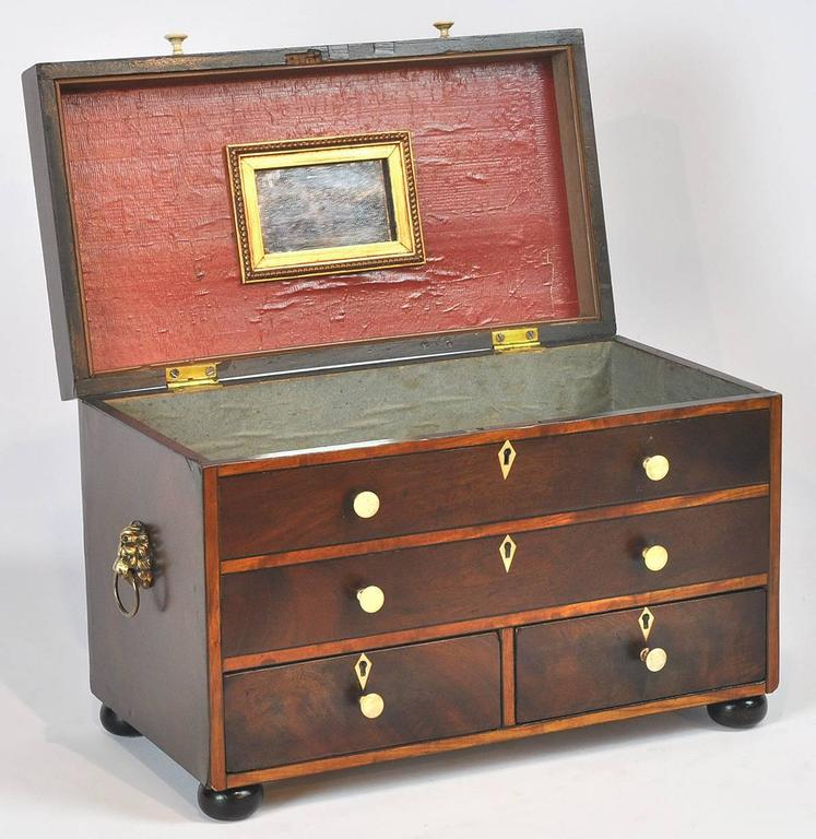 19th Ct. Regency Style English Mahogany Jewel Box 2