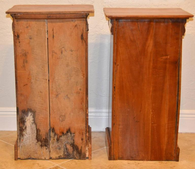Pair of 19th Ct. French Directoire Fruitwood End Tables with 1 Door & 1 Drawer 6