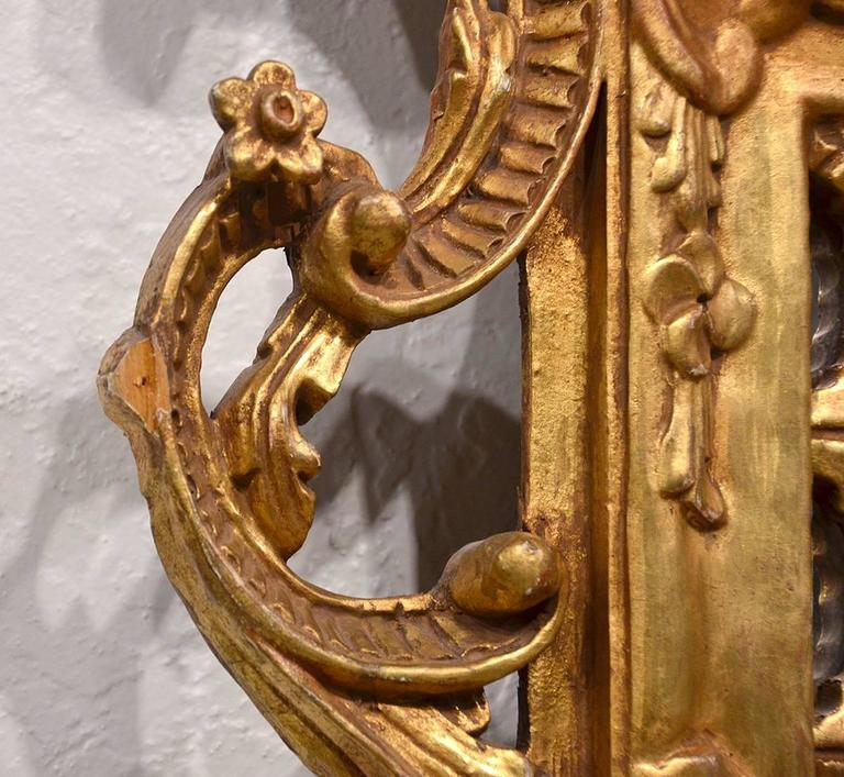 Pair of Carved Gilt Wood Italian Baroque Style Mirrors 8