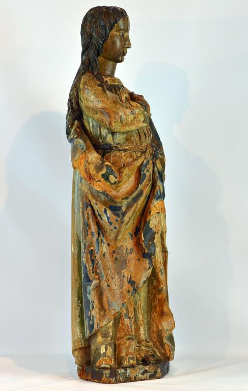 16th 17th Century Spanish Colonial Carved And Painted
