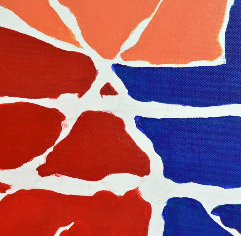 Painted 'December' Contemporary Abstract Work by Anders Hegelund, Danish For Sale