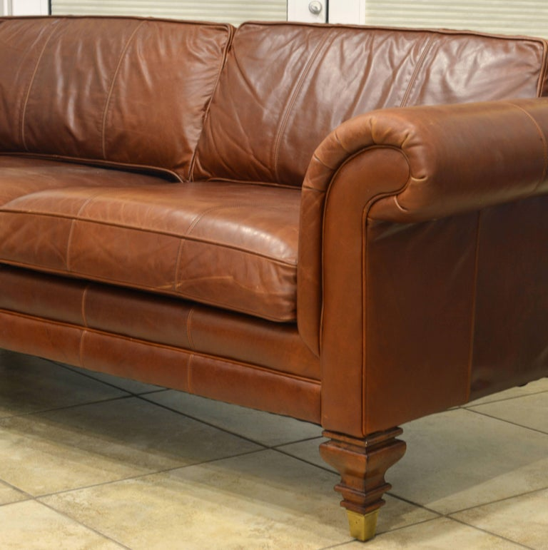 Good Quality Leather Sofa: Vintage High Quality Colonial Style Ralph Lauren Leather