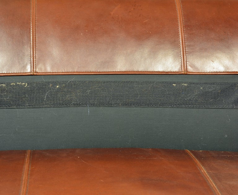 Vintage High Quality Colonial Style Ralph Lauren Leather Sofa with Rolled Arms 9