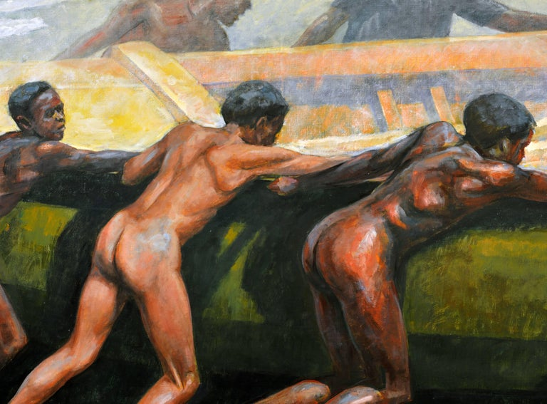 'Launching the Boat' Important Large Work by Barrington Watson Jamaica 1931-2016 3