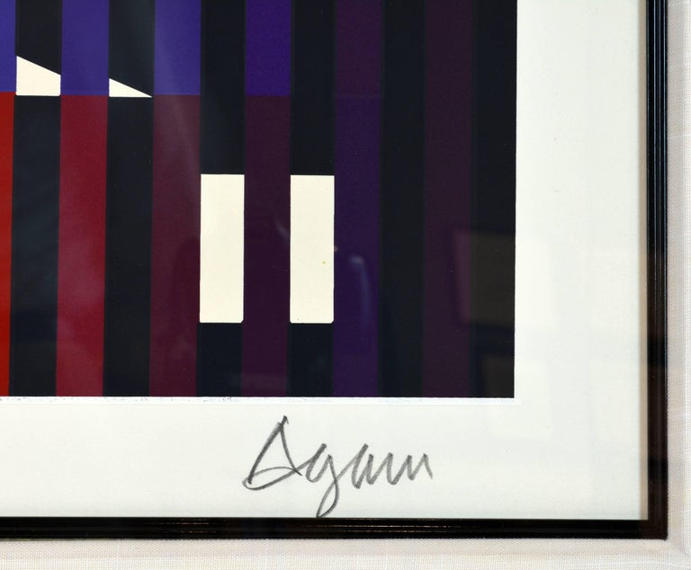 'Sparkling Night Rainbow' Extra Large Serigraph Signed/Numbered by Yaacov Agam In Good Condition For Sale In Ft. Lauderdale, FL