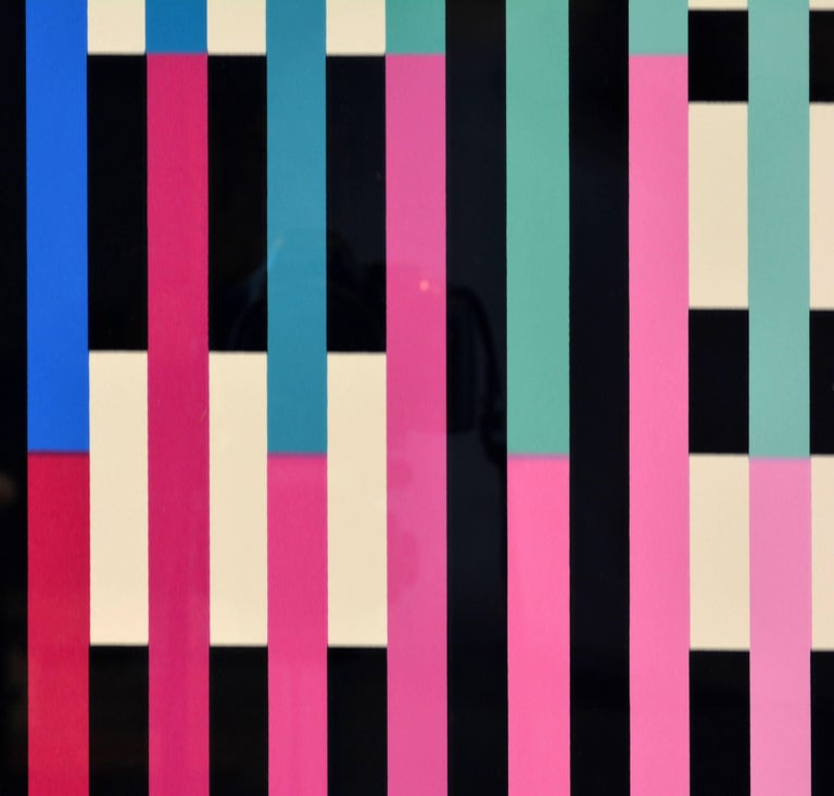 Paper 'Sparkling Night Rainbow' Extra Large Serigraph Signed/Numbered by Yaacov Agam For Sale