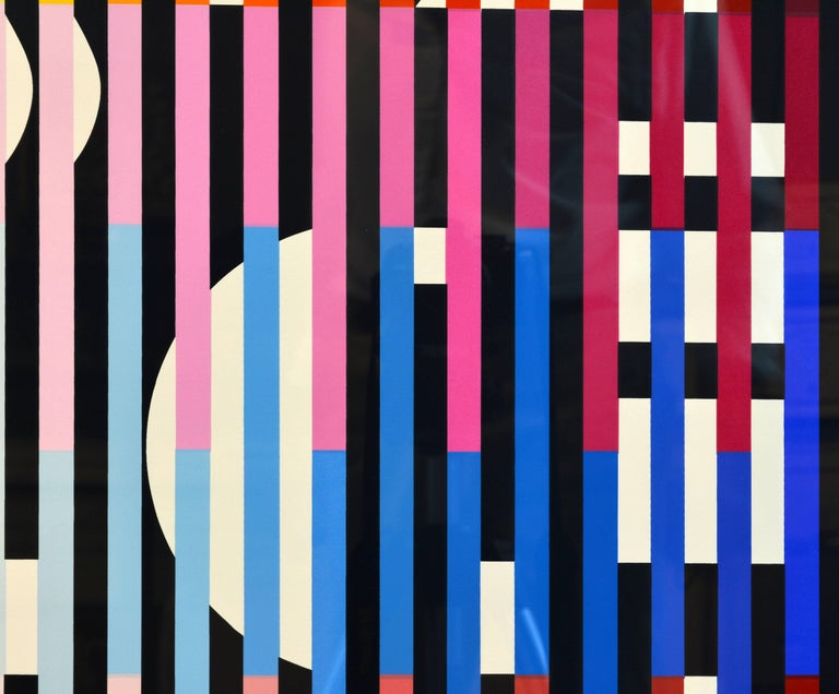Kinetic 'Sparkling Night Rainbow' Extra Large Serigraph Signed/Numbered by Yaacov Agam For Sale