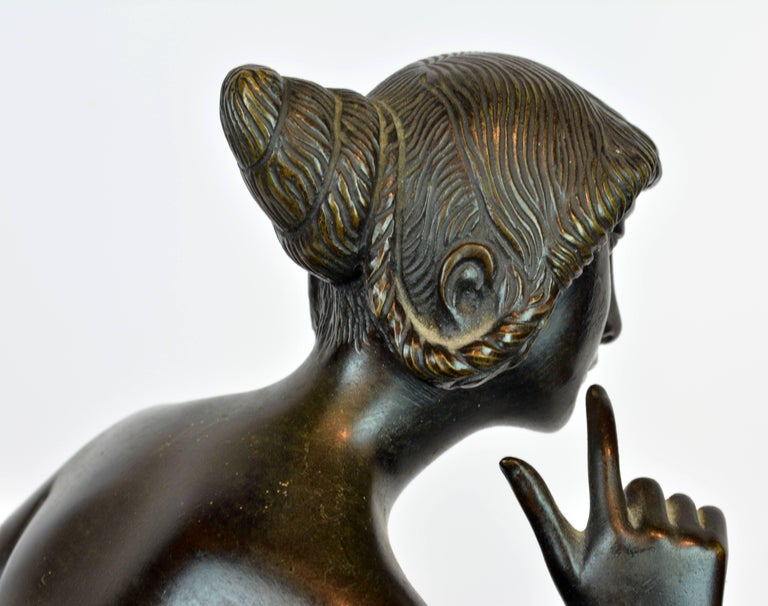 'Young Woman on a Deer' Unique Large Art Deco Bronze Sculpture by Paul Peterich 7