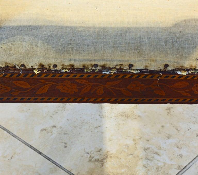 Elegant 19th Century English Neoclassical Inlaid Mahogany Bench or Stool 9