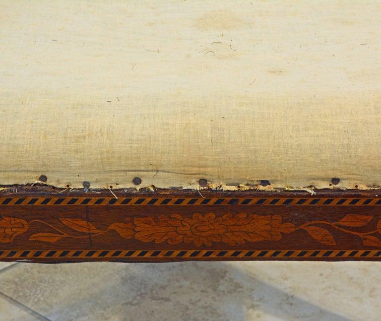 Elegant 19th Century English Neoclassical Inlaid Mahogany Bench or Stool 10
