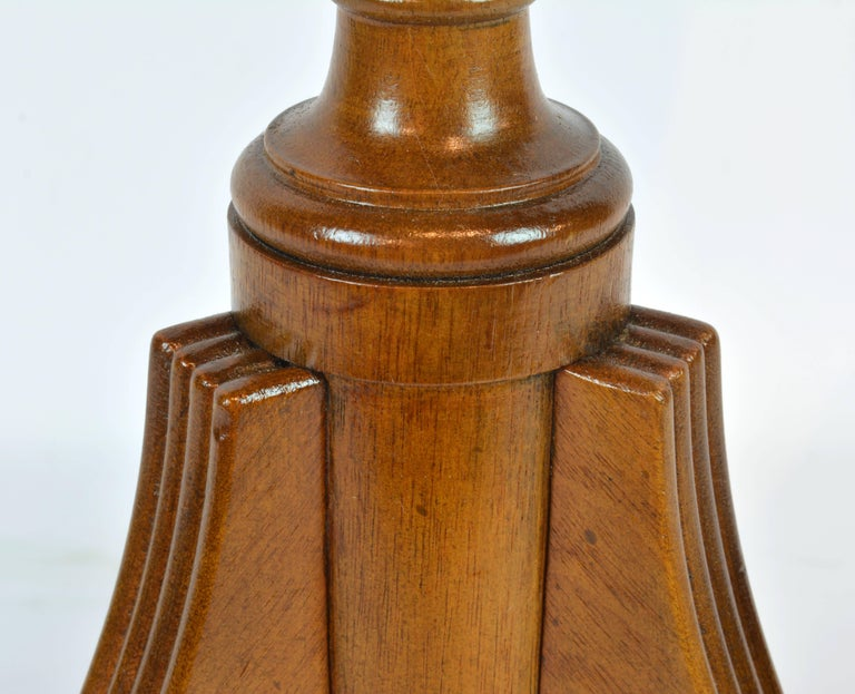 Petite English Regency Style Four-Drawer Leather Top Drum Occasional Table For Sale 4