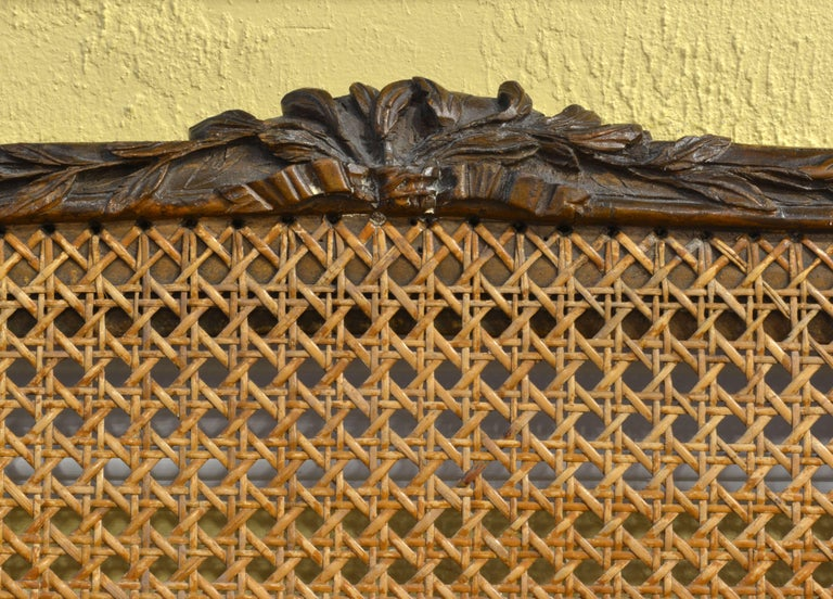 Late 18th Century Provincial Louis XV Style Carved and Caned Walnut Settee 5