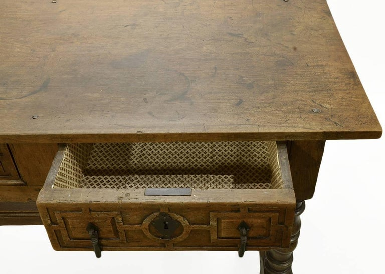 17th-18th Century Spanish Renaissance Walnut Reflectory Table or Hall Table 4