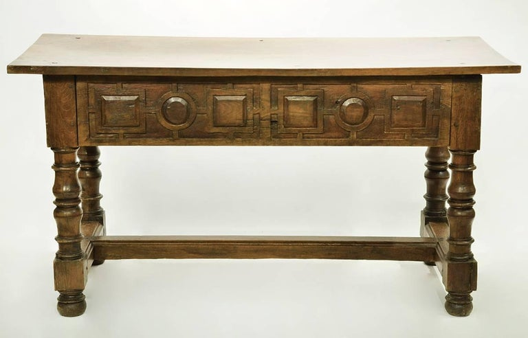 17th-18th Century Spanish Renaissance Walnut Reflectory Table or Hall Table 6