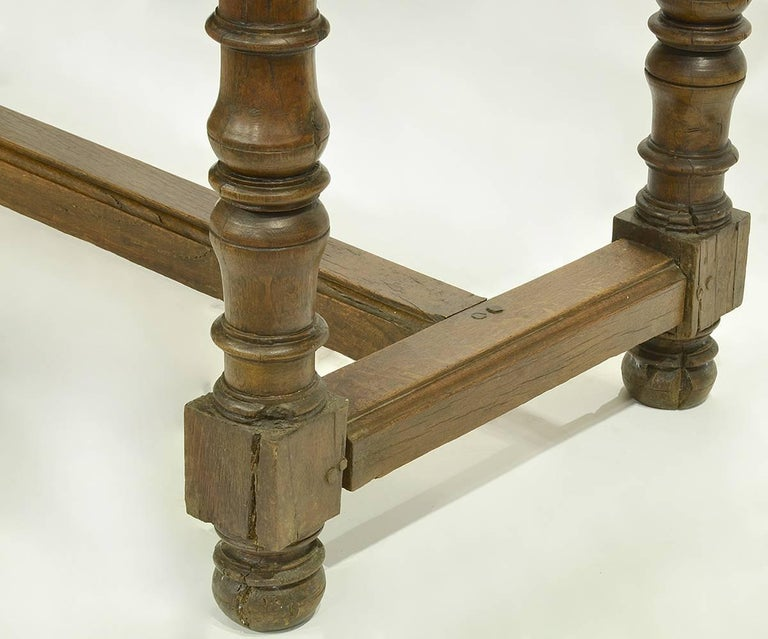 17th-18th Century Spanish Renaissance Walnut Reflectory Table or Hall Table 7