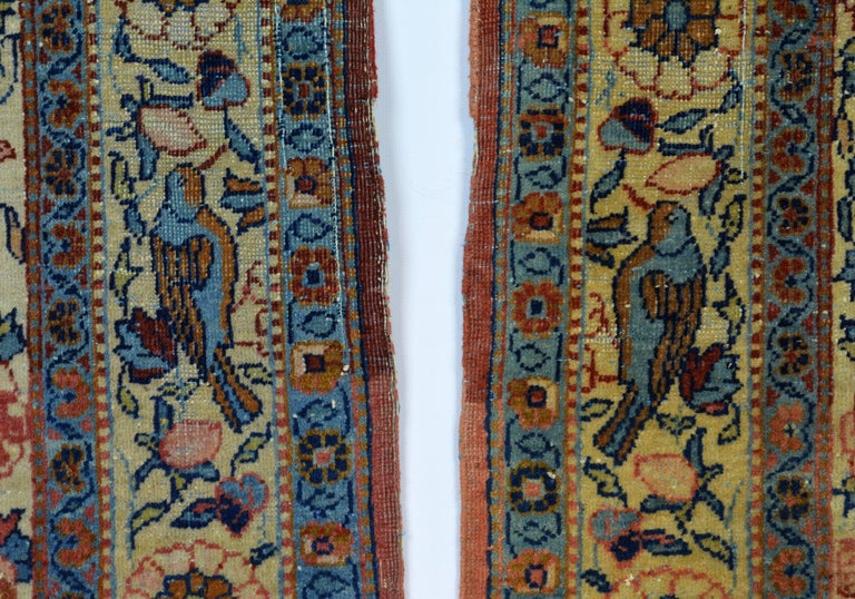 Rare Pair of Antique Lavar Kerman Persian 'Tree of Life' Prayer Carpets In Good Condition For Sale In Ft. Lauderdale, FL