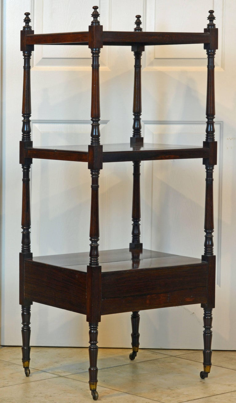 Attractive 19th Century English Rosewood Three-Tier and One Drawer Étagère 3
