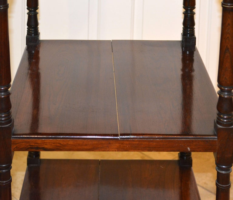 Attractive 19th Century English Rosewood Three-Tier and One Drawer Étagère For Sale 2