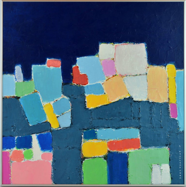 'L'heure Bleu, Cap Haitien' Contemporary Abstract by Lars Hegelund, American 2