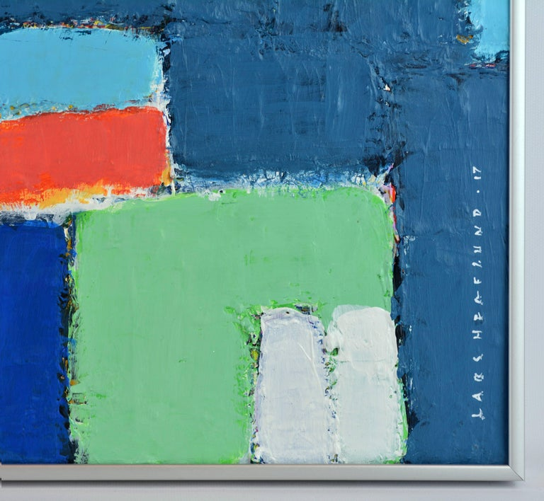 'L'heure Bleu, Cap Haitien' Contemporary Abstract by Lars Hegelund, American 7