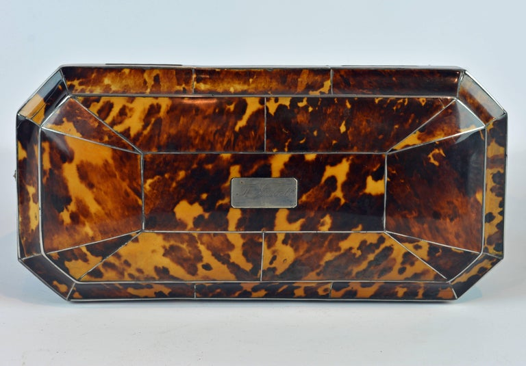 Superior Early 19th Century Georgian Tortoiseshell Tea Caddy on Lion's Paw Feet 8