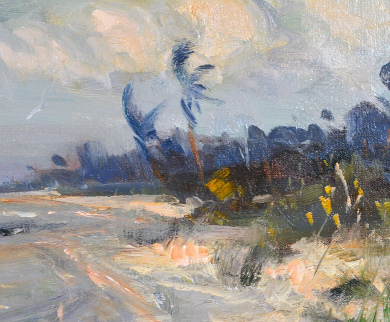 'Along the Gulf' Florida Impressionism by Robert C. Gruppe, American In Excellent Condition In Ft. Lauderdale, FL