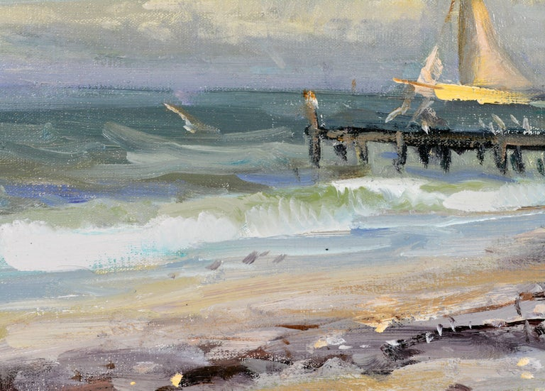 Contemporary 'Along the Gulf' Florida Impressionism by Robert C. Gruppe, American For Sale