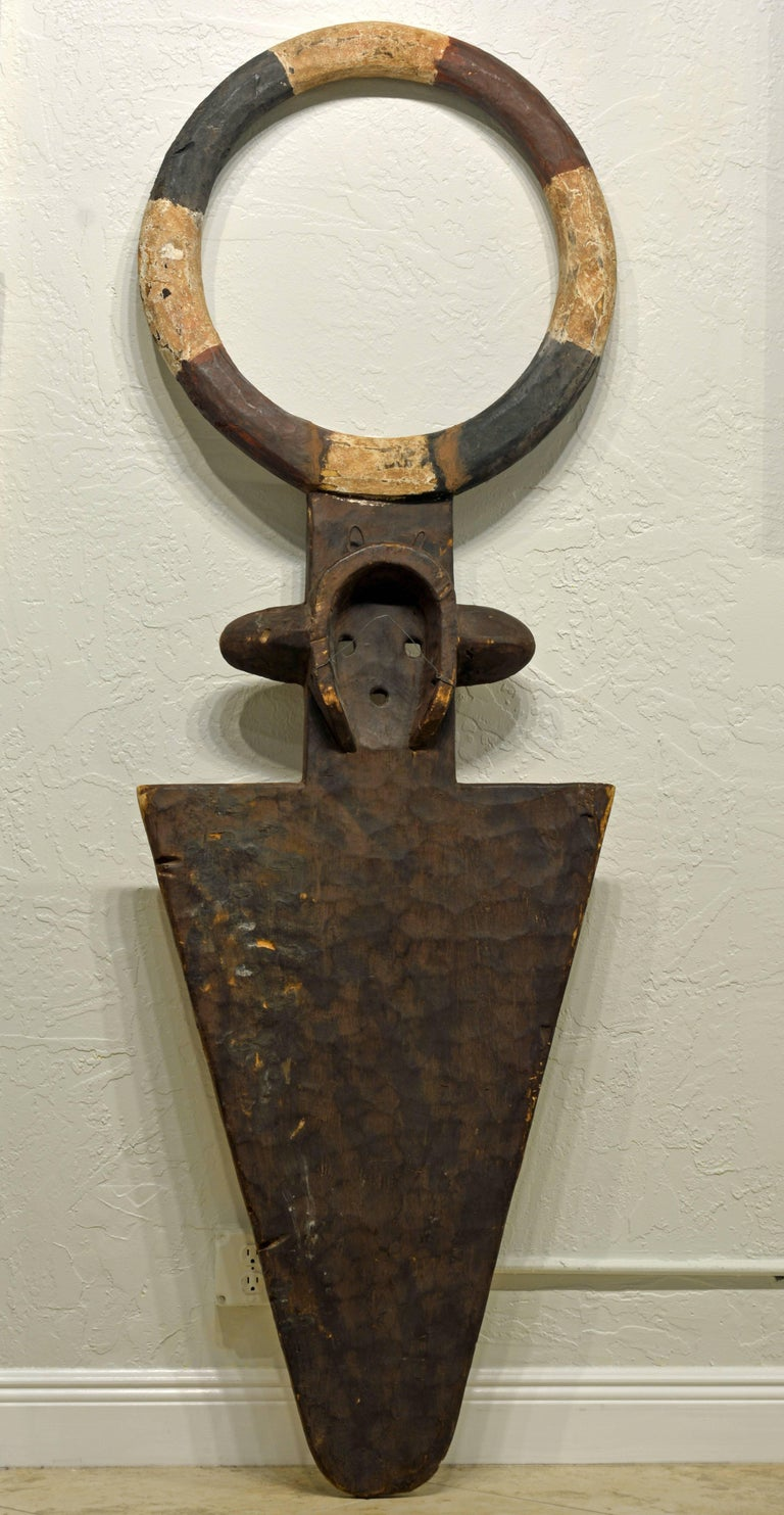 African Plank Mask in the Nafana 'Edu' Style, Great Contemporary Abstract Look 9
