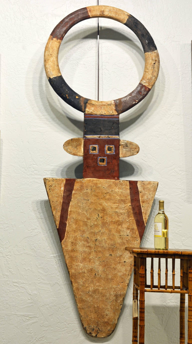 African Plank Mask in the Nafana 'Edu' Style, Great Contemporary Abstract Look 2