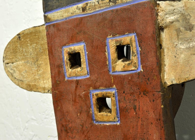 African Plank Mask in the Nafana 'Edu' Style, Great Contemporary Abstract Look 7