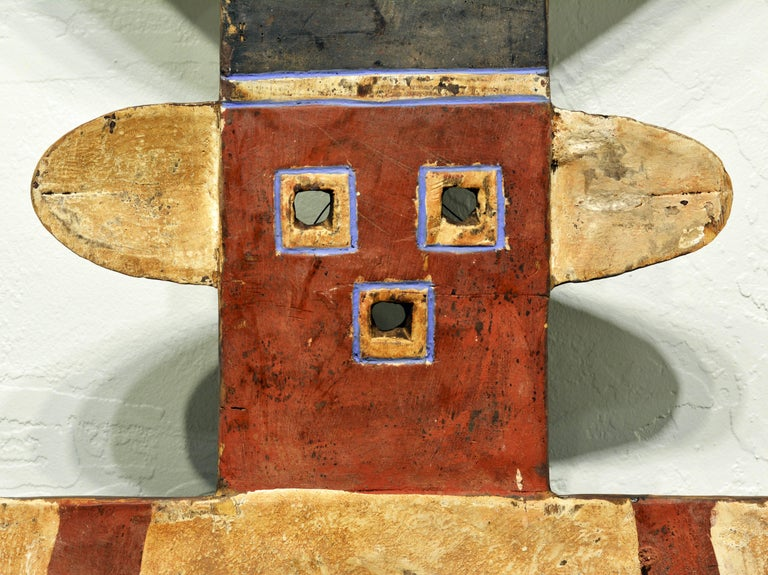 African Plank Mask in the Nafana 'Edu' Style, Great Contemporary Abstract Look 3