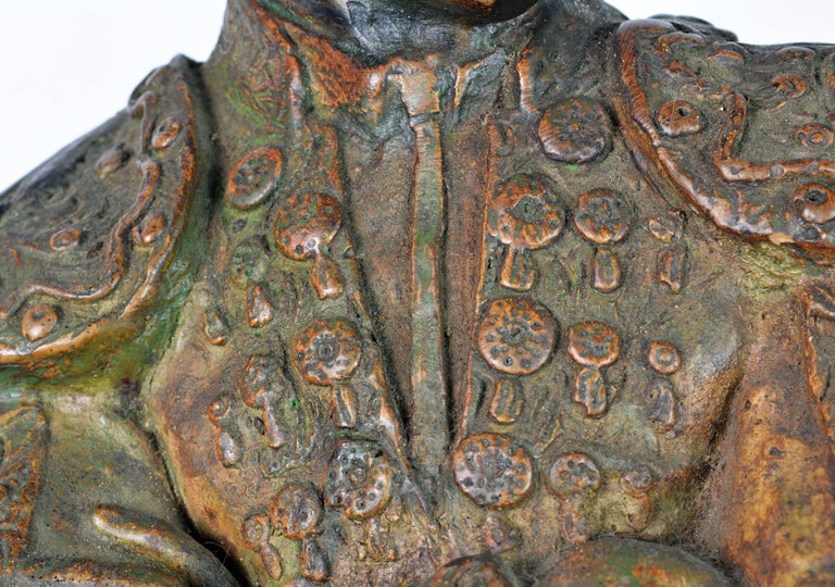 'El Cordobes' Large Patinated Terracotta Statue of the Legendary Spanish Matador For Sale 3