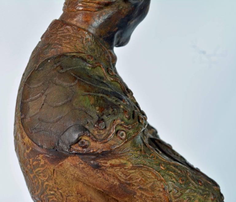 'El Cordobes' Large Patinated Terracotta Statue of the Legendary Spanish Matador For Sale 13