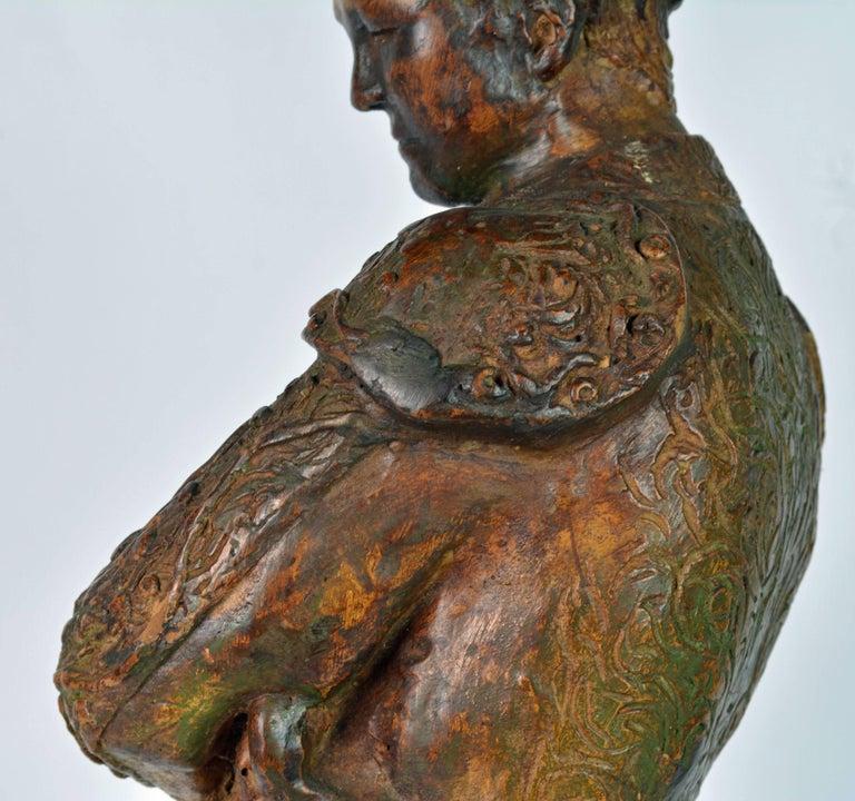 'El Cordobes' Large Patinated Terracotta Statue of the Legendary Spanish Matador For Sale 14