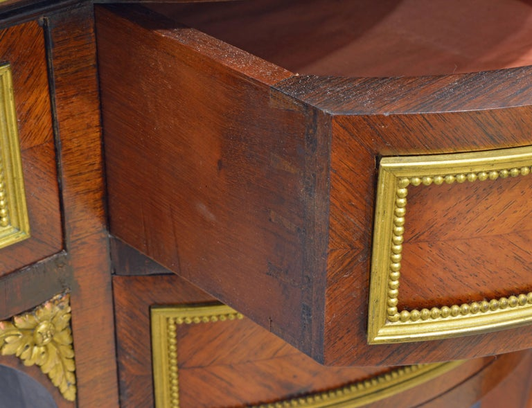 19th Century French Louis XV Bronze-Mounted Kingwood Parquetry Writing Desk For Sale 7