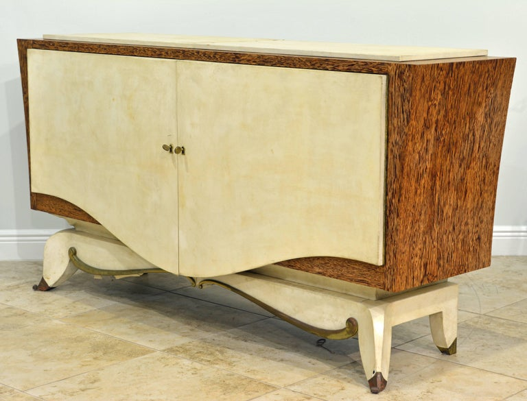French Parchment and Macassar Art Deco Sideboard or Dresser by Claude O. Merson In Good Condition For Sale In Ft. Lauderdale, FL