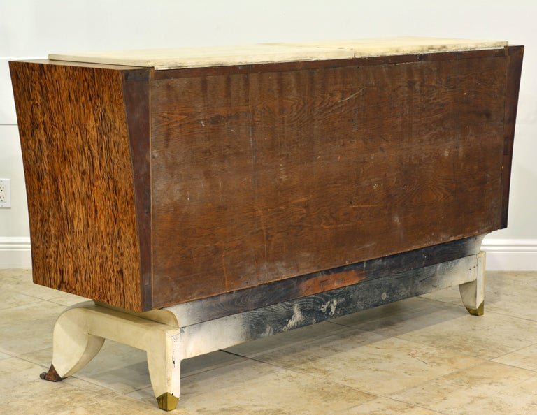 20th Century French Parchment and Macassar Art Deco Sideboard or Dresser by Claude O. Merson For Sale