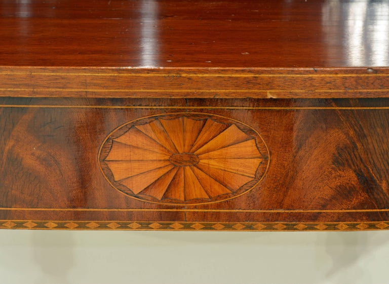 Pair of Early 20th Century American Sheraton Style Inlaid Mahogany Card Tables In Good Condition For Sale In Ft. Lauderdale, FL