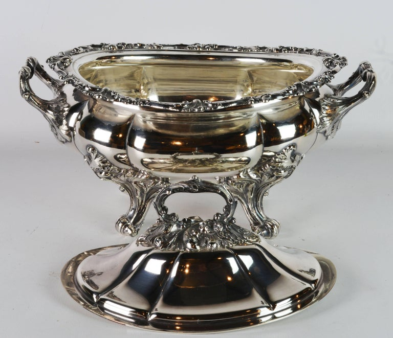Late 19th Century Large Silver Plate Rococo Style Turreen by James Dixon & Sons For Sale 1